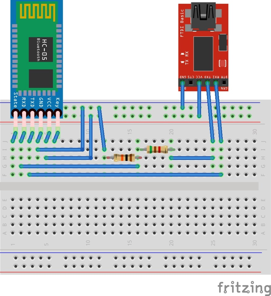 Configuring the HC-05 bluetooth module – Class B Project